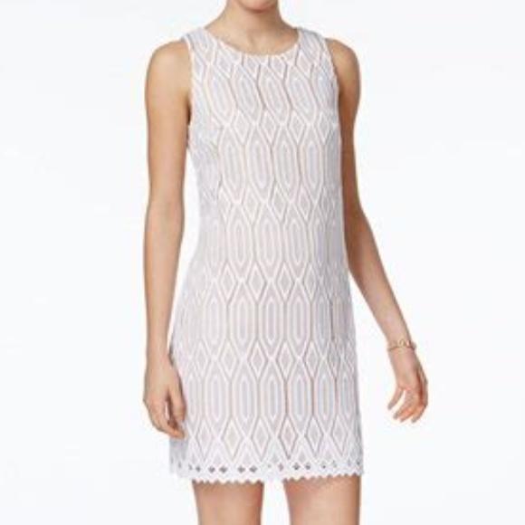 e57962ac7ac NWT Vince Camuto Ivory Lace Cocktail Sheath Dress